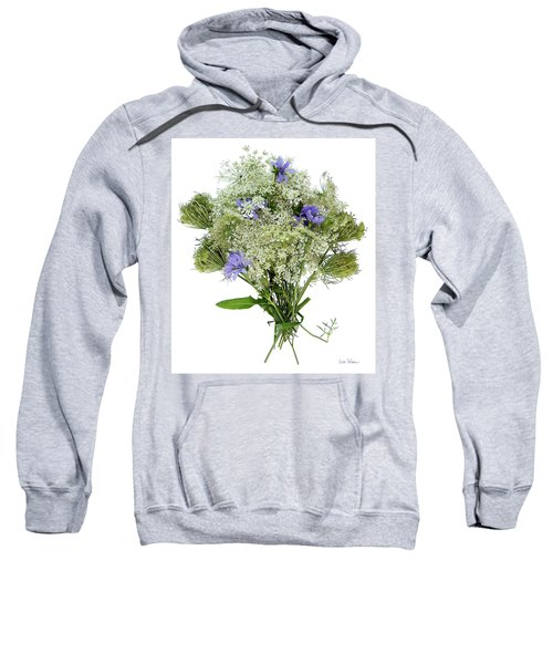 Queen Anne's Lace With Purple Flowers Sweatshirt