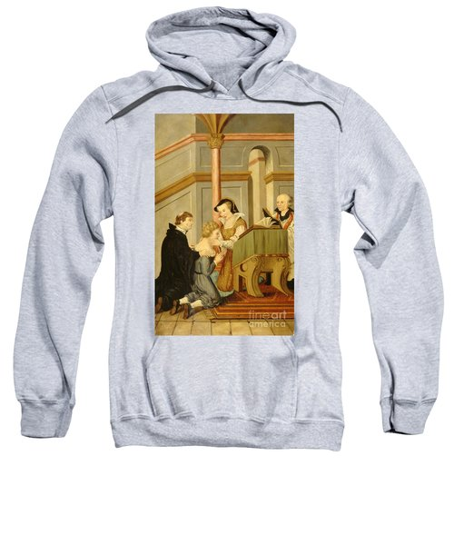Queen Mary I Curing Subject With Royal Sweatshirt
