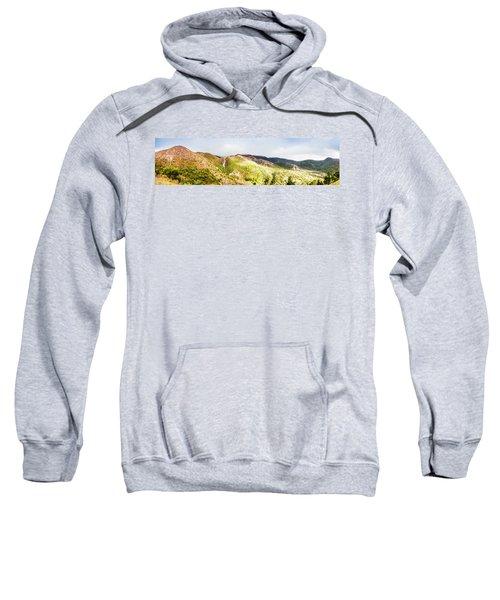 Queenstown Tasmania Wide Mountain Landscape Sweatshirt