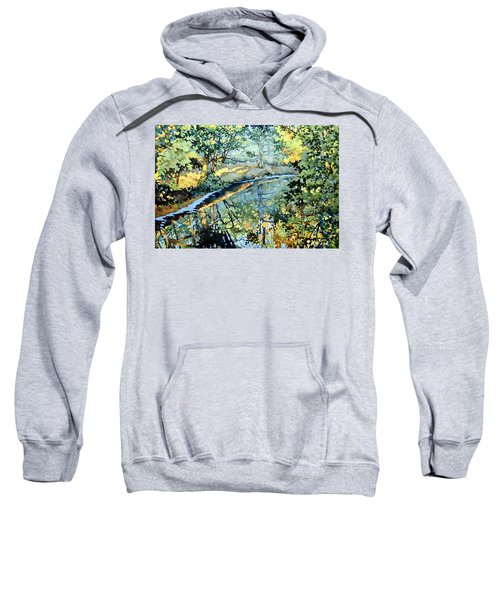 Quiet Stream Near Milk House Sweatshirt