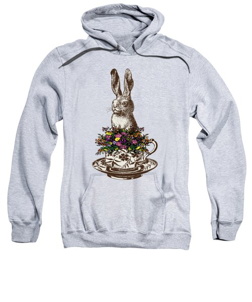 Rabbit In A Teacup Sweatshirt by Eclectic at HeART