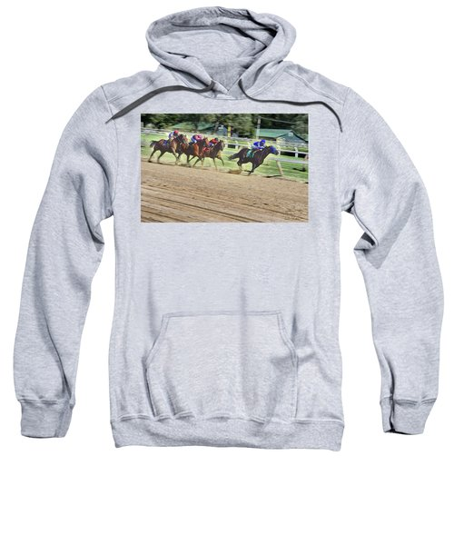 Race Horses In Motion Sweatshirt