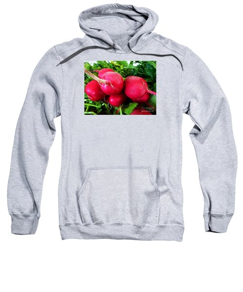 Sweatshirt featuring the photograph Radish Bottoms by Dee Flouton