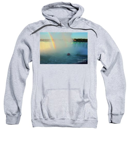 Rainbow At Horseshoe Falls Sweatshirt