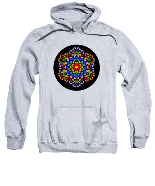 Rainbow Mandala By Kaye Menner Sweatshirt by Kaye Menner