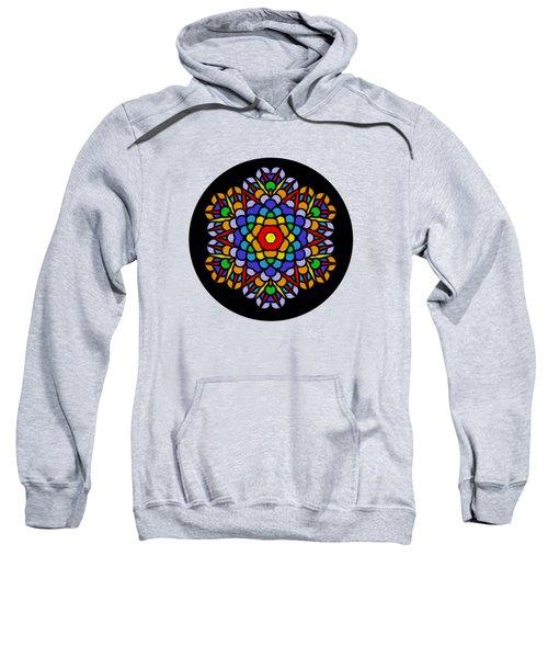 Rainbow Mandala By Kaye Menner Sweatshirt
