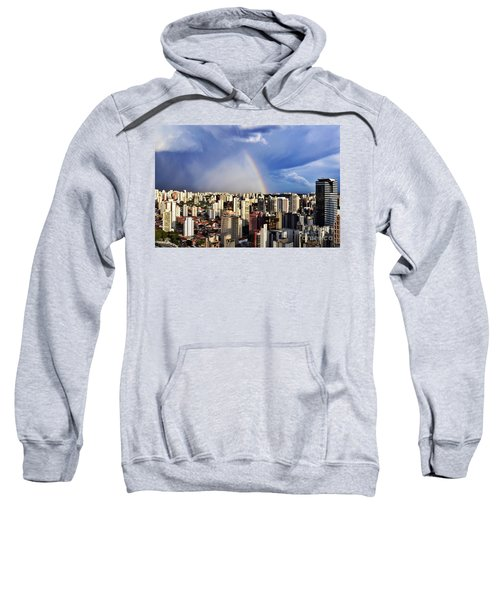 Rainbow Over City Skyline - Sao Paulo Sweatshirt