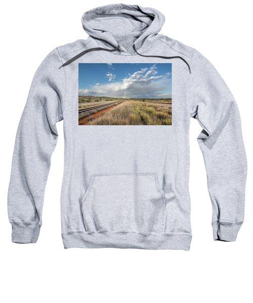 Rainbows Over Ghan Tracks Sweatshirt