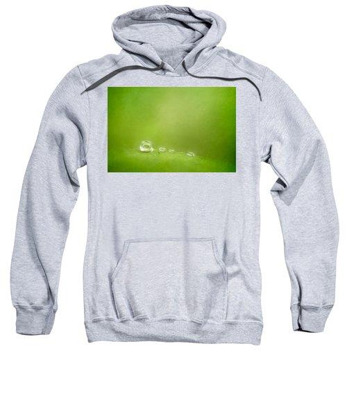 Raindrops On Green Sweatshirt