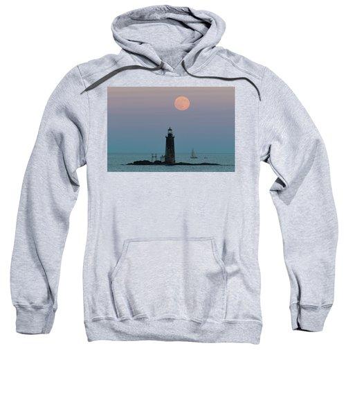 Ram Island Light Buck Moon And Sailboat Sweatshirt