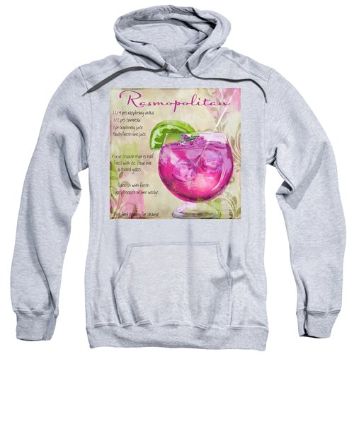 Rasmopolitan Mixed Cocktail Recipe Sign Sweatshirt by Mindy Sommers