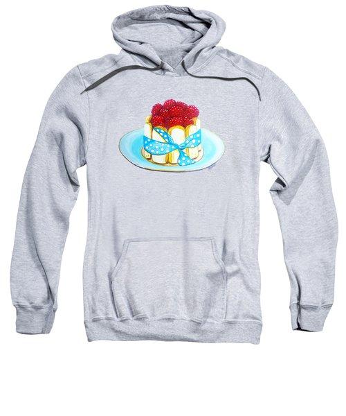 Raspberry Finger Biscuit Dessert Illustration Sweatshirt by Sonja Taljaard
