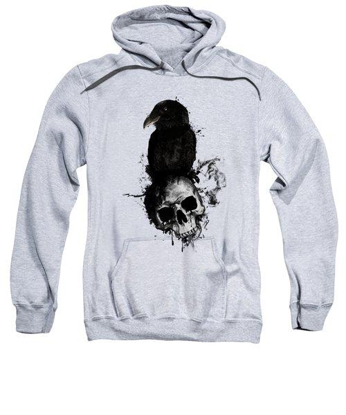 Raven And Skull Sweatshirt by Nicklas Gustafsson