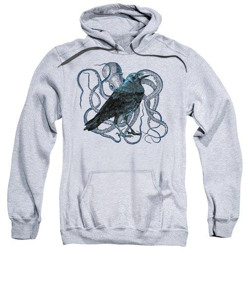 Raven Dreams Of The Octopus Sweatshirt by Sandra McGinley
