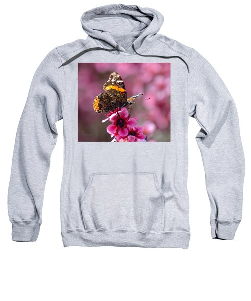 Red Admiral Butterfly Sweatshirt