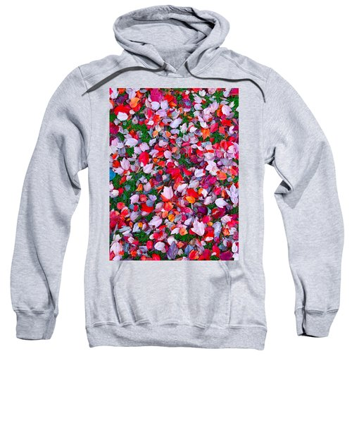 Red And Green Leaves Sweatshirt