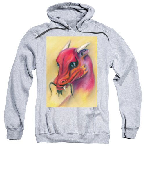 Red And Orange Asian Dragon Sweatshirt