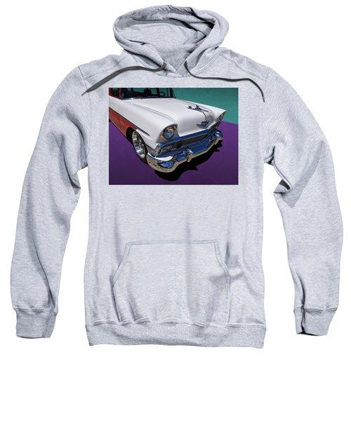 Red And White 1950s Chevrolet Wagon Sweatshirt