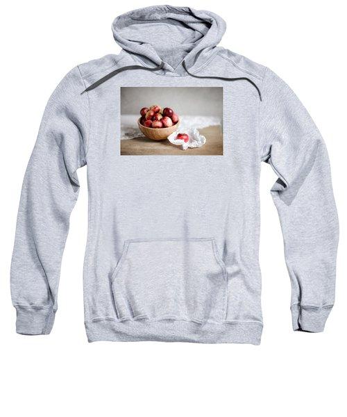 Red Apples Still Life Sweatshirt