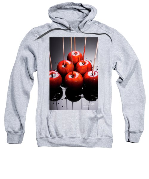 Red Apples With Caramel  Sweatshirt