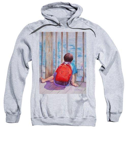 Red Backpack Sweatshirt