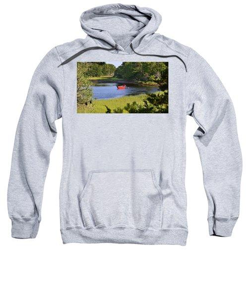 Red Boat On The Herring River Sweatshirt