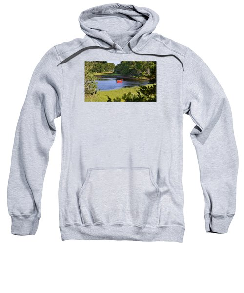 Red Boat On The Herring River Sweatshirt