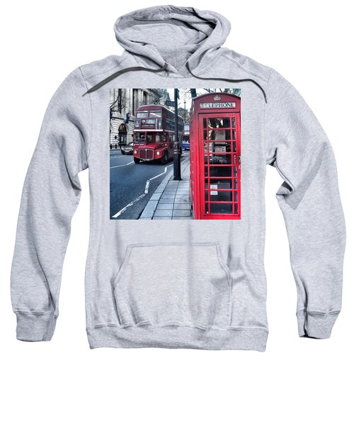Red Bus In London  Sweatshirt