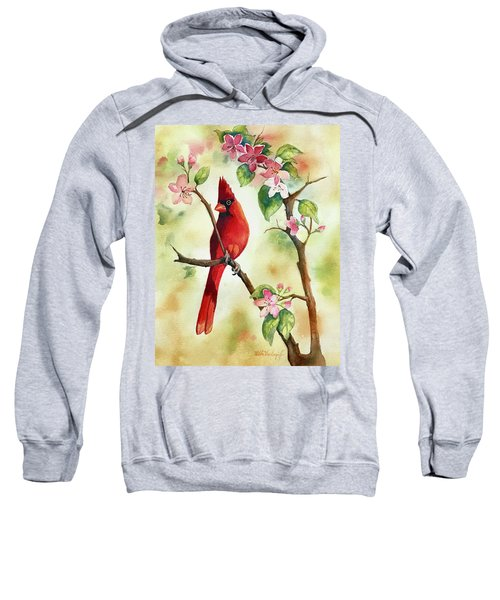 Red Cardinal And Blossoms Sweatshirt