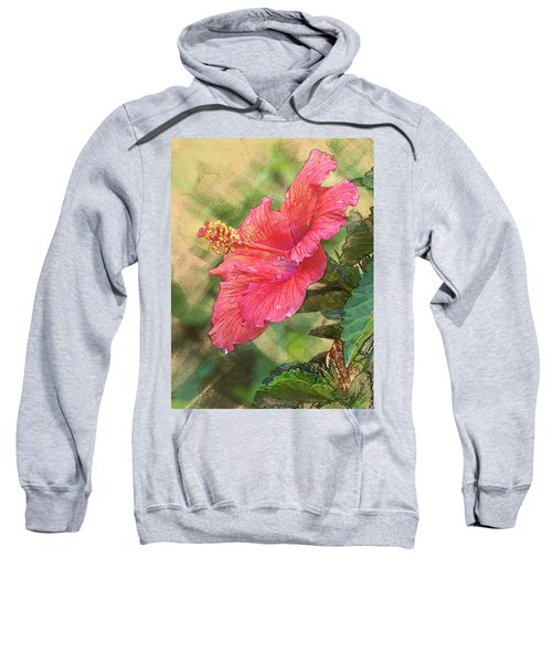 Red Hibiscus Sweatshirt