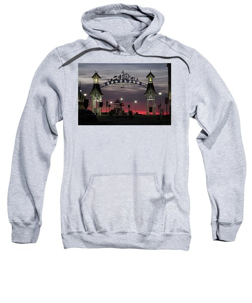 Red Horizon Thru The Boardwalk Arch Sweatshirt