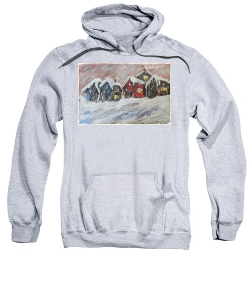 Red House In The Snow Sweatshirt