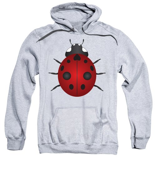 Red Ladybug Color Illustration Sweatshirt by Jit Lim