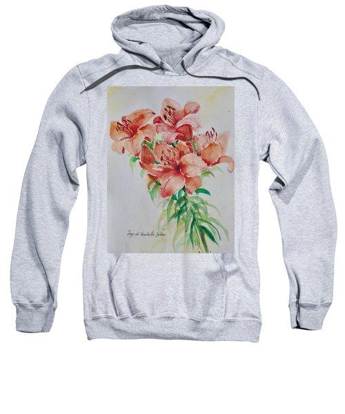 Red Lilies Sweatshirt