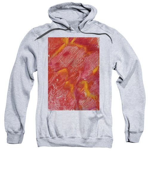 Red Monoprint One Sweatshirt