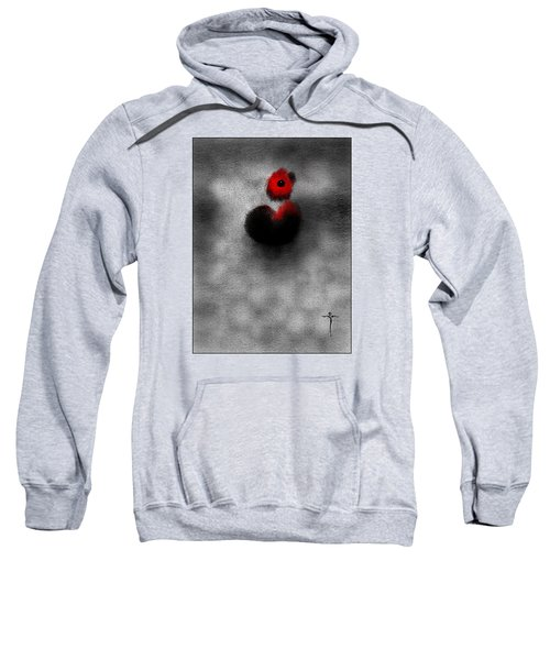 Sweatshirt featuring the digital art Red Mouse by James Lanigan Thompson MFA