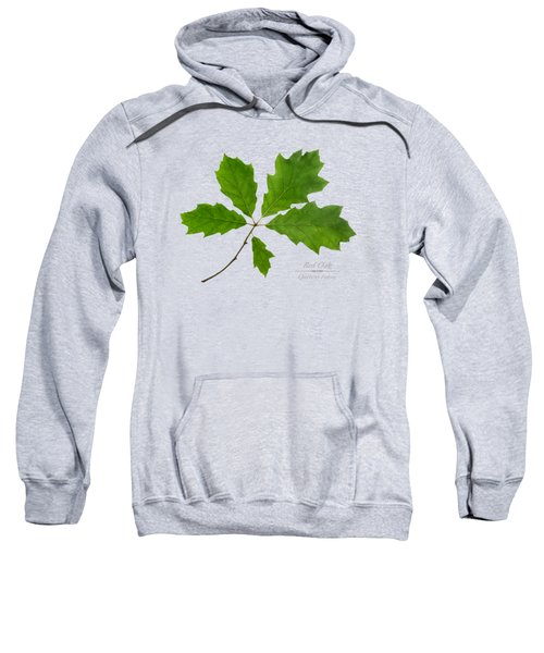 Sweatshirt featuring the photograph Red Oak by Christina Rollo