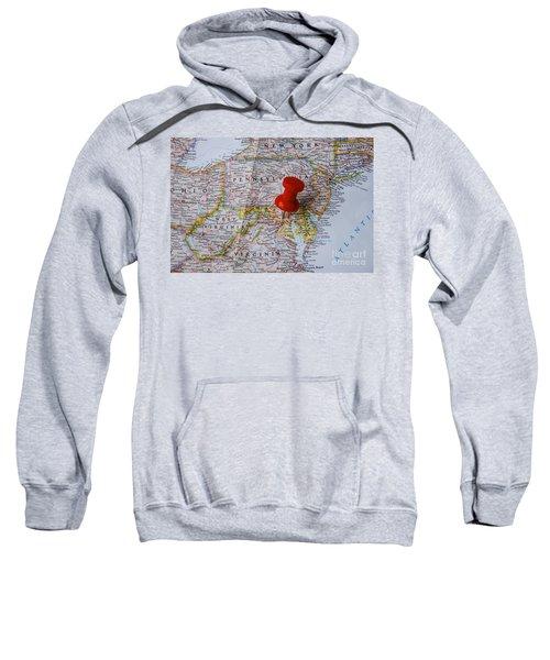 Red Pin On Washington Dc Sweatshirt