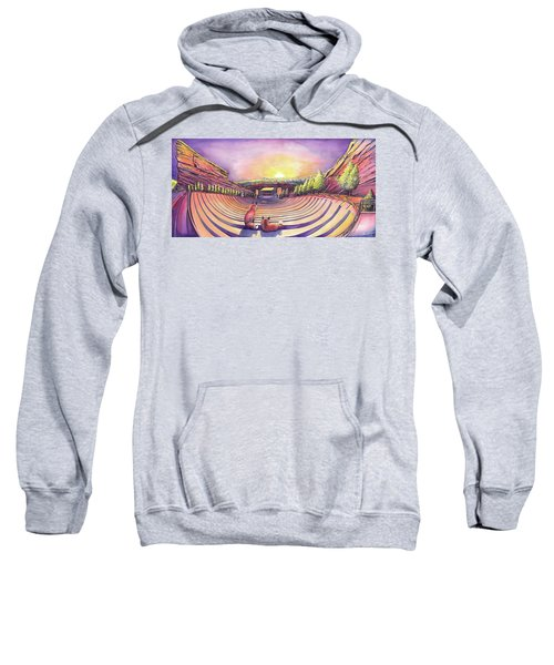 Foxes At Red Rocks Sunrise Sweatshirt