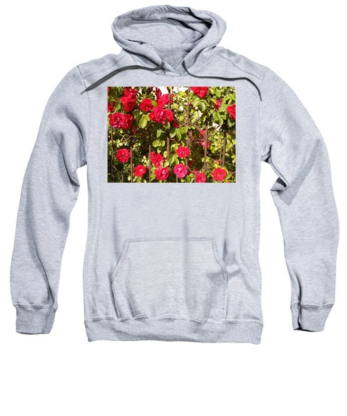 Red Roses In Summertime Sweatshirt by Arletta Cwalina