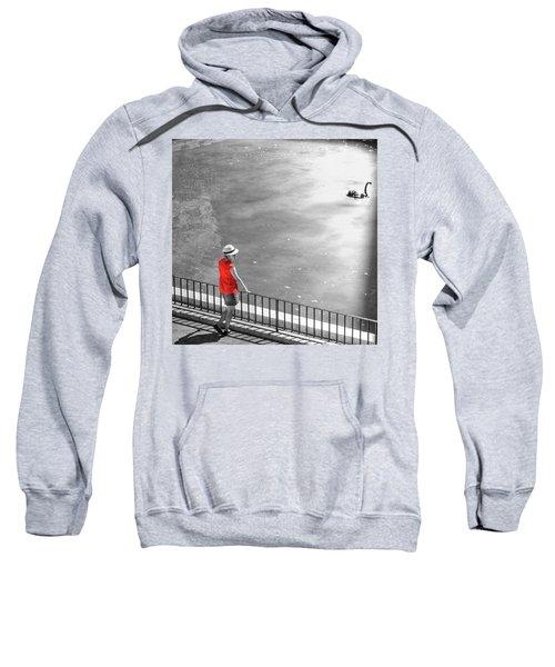Red Shirt, Black Swanla Seu, Palma De Sweatshirt
