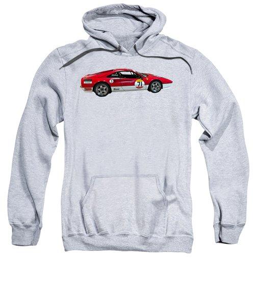 Red Sports Racer Art Sweatshirt