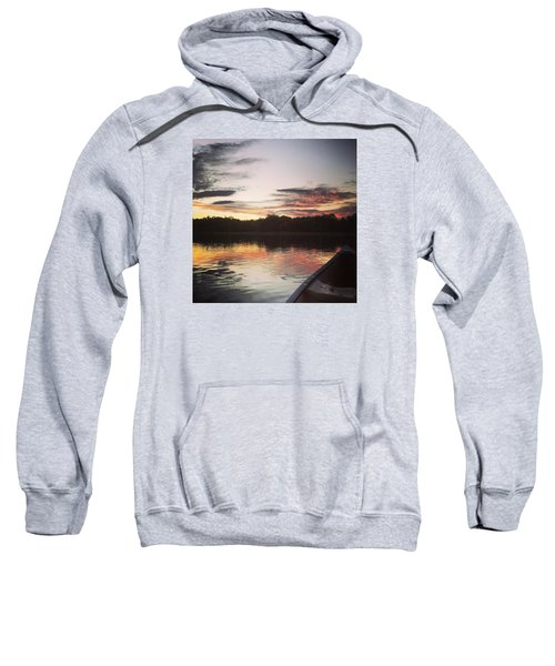 Red Spotted Sunset Sweatshirt