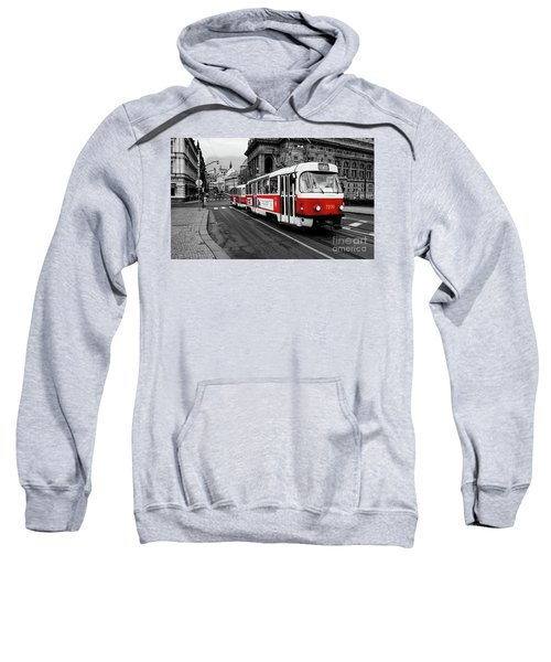 Prague - Red Tram Sweatshirt
