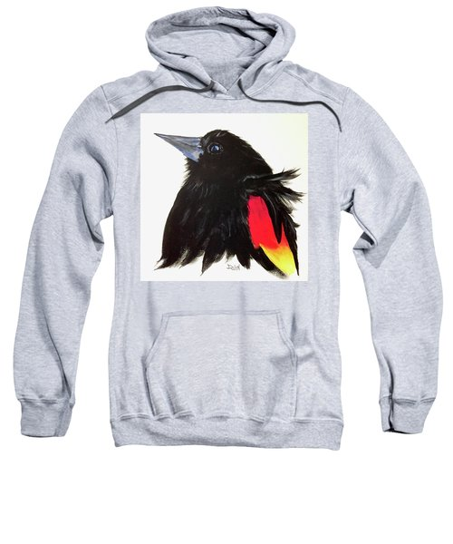 Red Winged Blackbird Sweatshirt