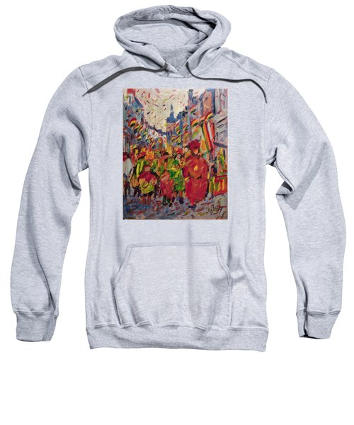 Red Yellow Green There They Come Vreug En Neugter Sweatshirt