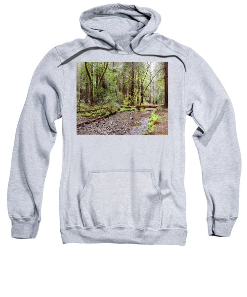Redwood Creek Flowing Through Muir Woods National Monument - Mill Valley Marin County California Sweatshirt