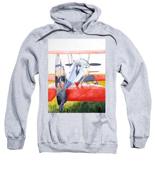 Reflection On Biplane Sweatshirt