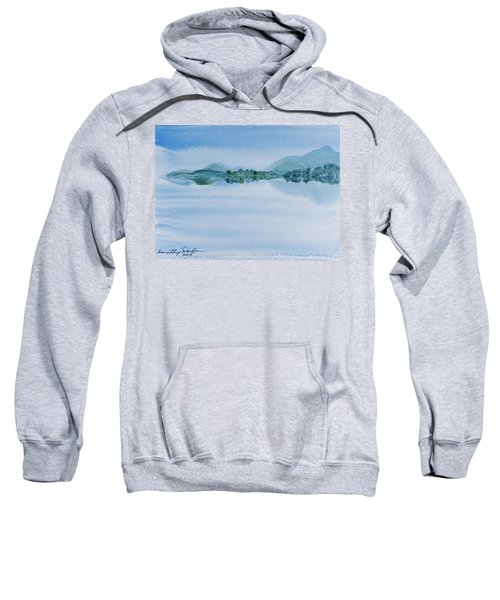 Reflection Of Mt Rugby In Bathurst Harbour Sweatshirt