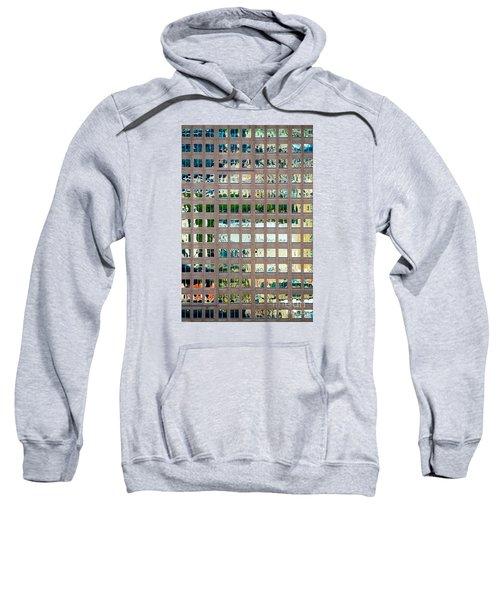 Reflections In Windows Of Office Building Sweatshirt